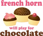Chocolate French Horn T-shirts and gifts