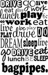 BAGPIPES Eat Sleep Work Play Music T-shirts