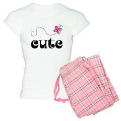 Cute Pink Butterfly Matching Pajamas