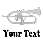 PERSONALIZED FLUGELHORN MUSIC T-SHIRTS