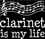 Clarinet is My Life Music Staff Gifts and Shirts
