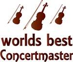 Concertmaster Violin Music T-shirts