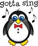 Penguin Music Sing T-shirts