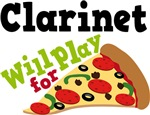 Clarinet Will Play For Pizza T shirts