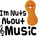 I'm Nuts About Music T-shirts