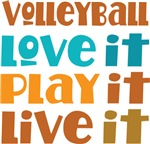Volleyball Love Play Live Quote Gift T-shirts