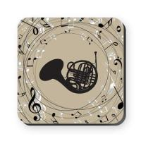 FRENCH HORN MUSIC COASTERS