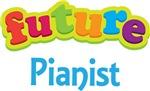 Future Pianist Kids Music T-shirts