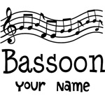 Personalized Bassoon Music Bags and T Shirts