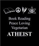Book Reading Peace Loving Vegetarian Atheist