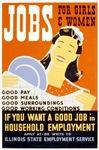 Jobs For Girls WPA Poster