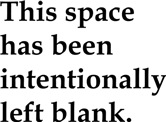 This Space Blank
