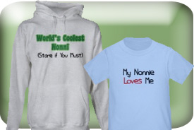 Nonie, Nonni, and Nonnie Gifts and T-Shirts