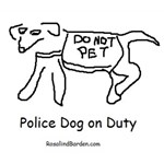 Police Dog No Pet