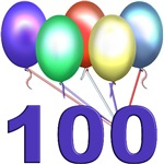 100th Balloons, great gifts for those turning 100!