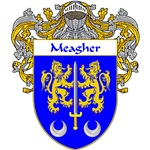 Meagher Coat of Arms (Mantled)