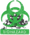 BioHazard Sign and Skulls