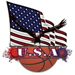 Patriotic USA Basketball