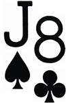 Jack of Spades Eight of Clubs