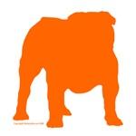 Orange Bulldog Silhoutte