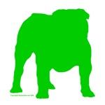 Green Bulldog Silhoutte