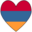Armenian Heart-shaped Flag