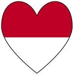 Indonesian Flag Heart Valentine