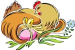 Easter Hen with Eggs T-shirts & Gifts