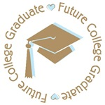 Cute Blue Future College Graduate T-shirts Gifts