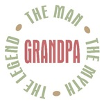 Grandpa Man Myth Legend T-shirts Gifts