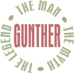 Gunther the Man the Myth the Legend T-shirts Gifts