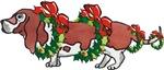 Basset in Wreaths