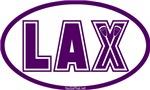 Lacrosse Lax Oval Purple