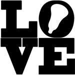 Lacrosse Love Black