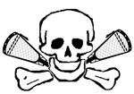 Lacrosse Skull and Crosses