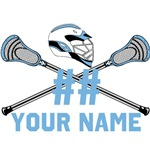 Personalized Lacrosse Sticks Helmet Columbia Blue