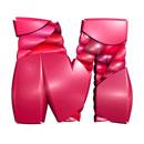 Pink Blancmange initial letter M monogram