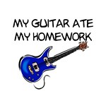 My Guitar Ate My Homework T-shirts and Gifts