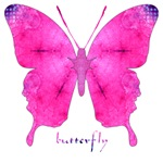 Dazzled Pink Butterfly