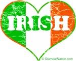 Irish Flag Heart (distress)