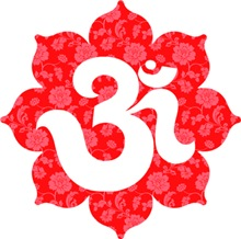 Om Lotus in RED and pink