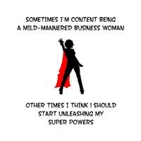 Superheroine Business Woman