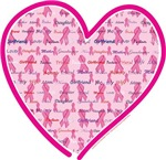 Support Breast Cancer Awareness Heart