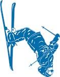 Snow Skier in Blue