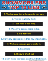 Snowmobilers top ten Lies Multi Color
