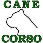 Cane Corso Logo Green