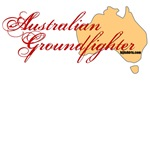 Australian Groundfighter shirts, map design
