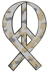Camo Peace Ribbon