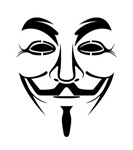 Guy Fawkes Mask Stencil