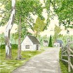 Country Lane and Fence